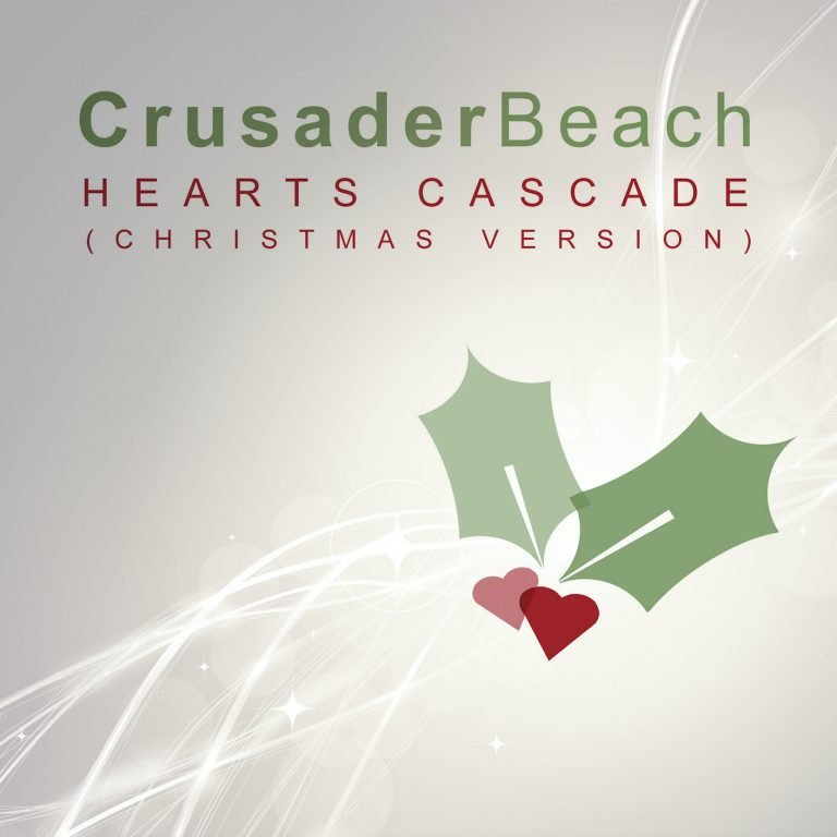 Hearts Cascade (Christmas Version) by CrusaderBeach - single cover