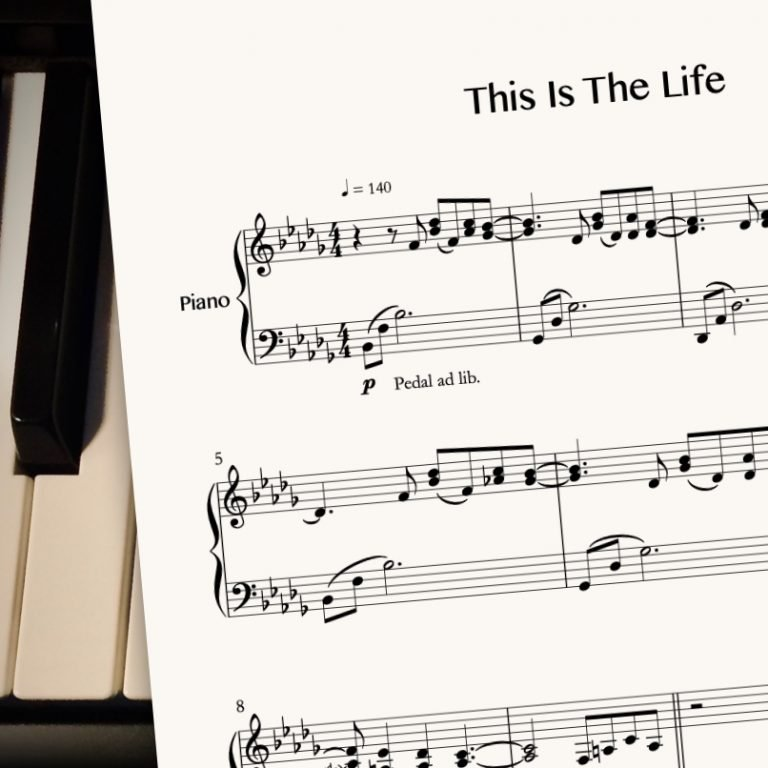 This Is The Life by CrusaderBeach - sheet music close-up image
