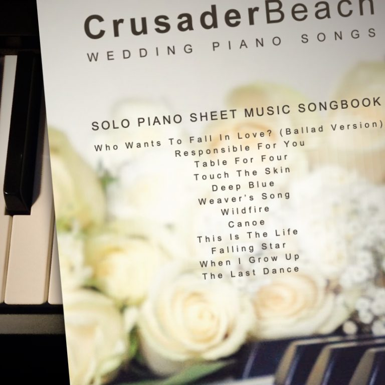 Wedding Piano Songs by CrusaderBeach - sheet music songbook close-up image