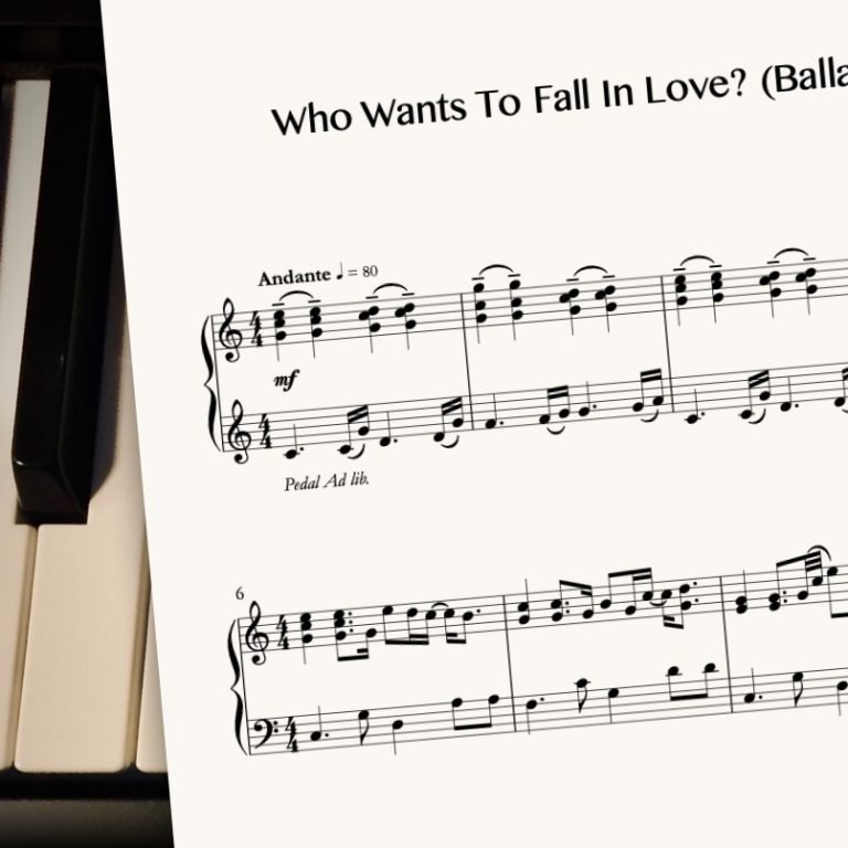 Who Wants To Fall In Love? (Ballad Version) by CrusaderBeach - sheet music close-up image