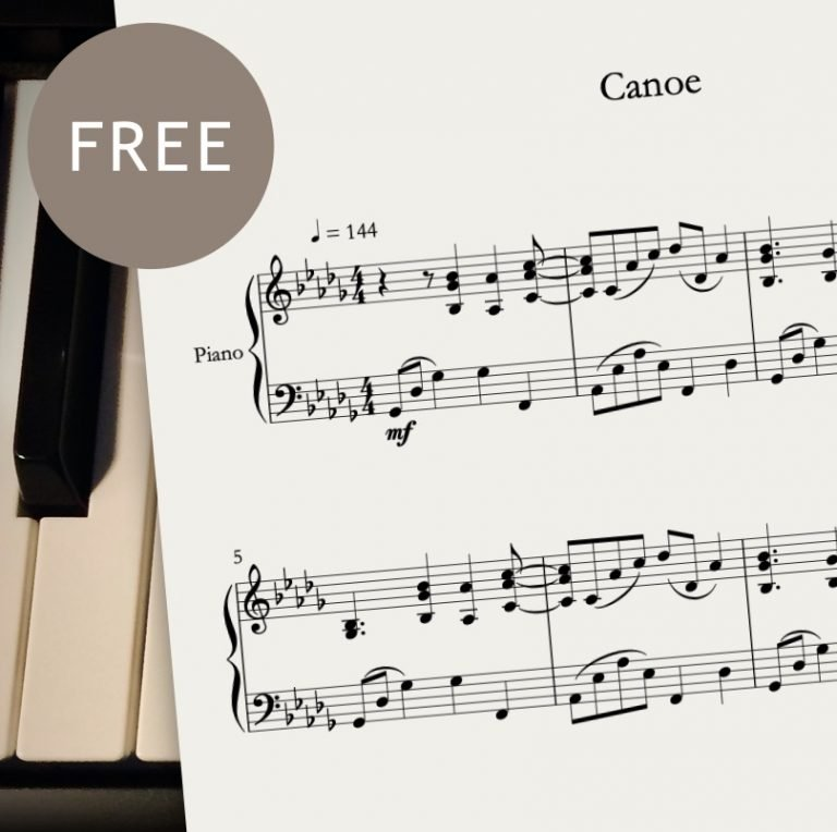 Free piano sheet music - Canoe by CrusaderBeach