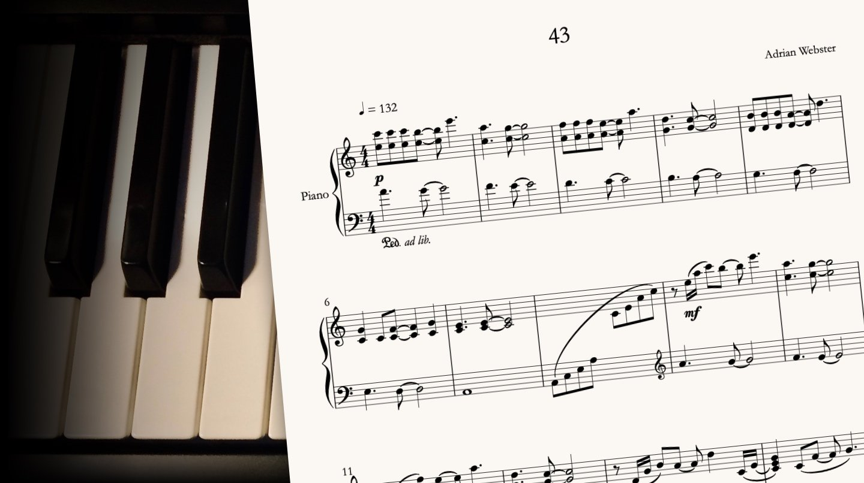 43 by CrusaderBeach - sheet music close-up