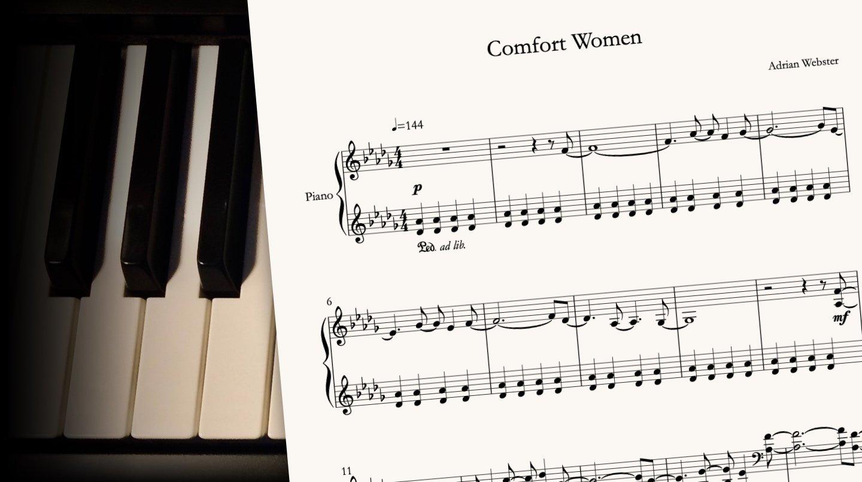 Comfort Women by CrusaderBeach - sheet music close-up