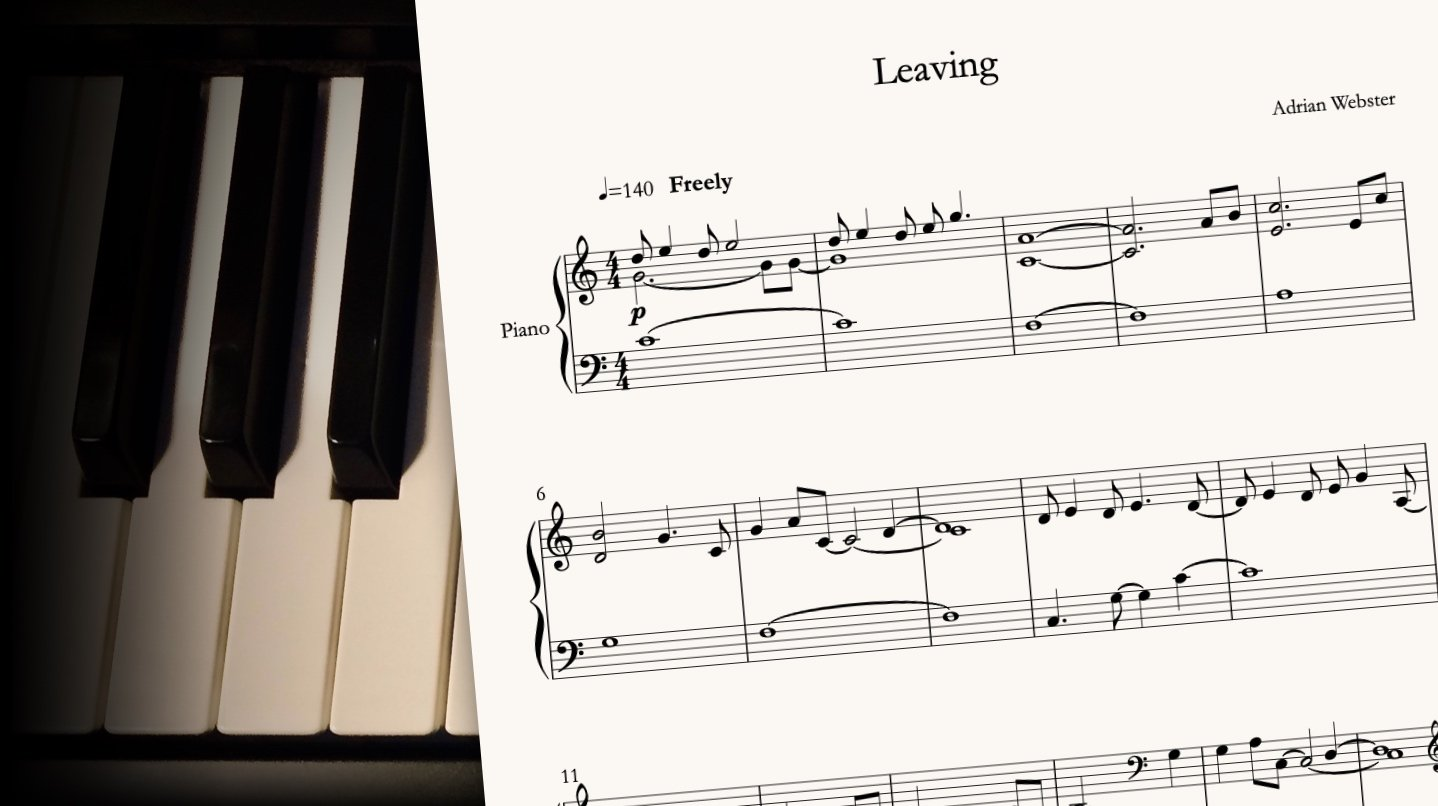 Leaving by CrusaderBeach - sheet music close-up