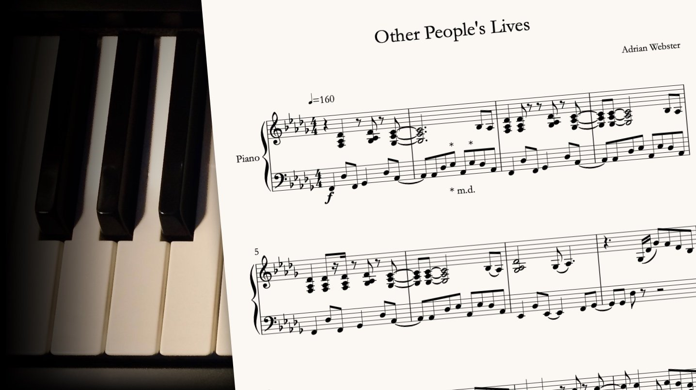 Other People's Live by CrusaderBeach - sheet music close-up