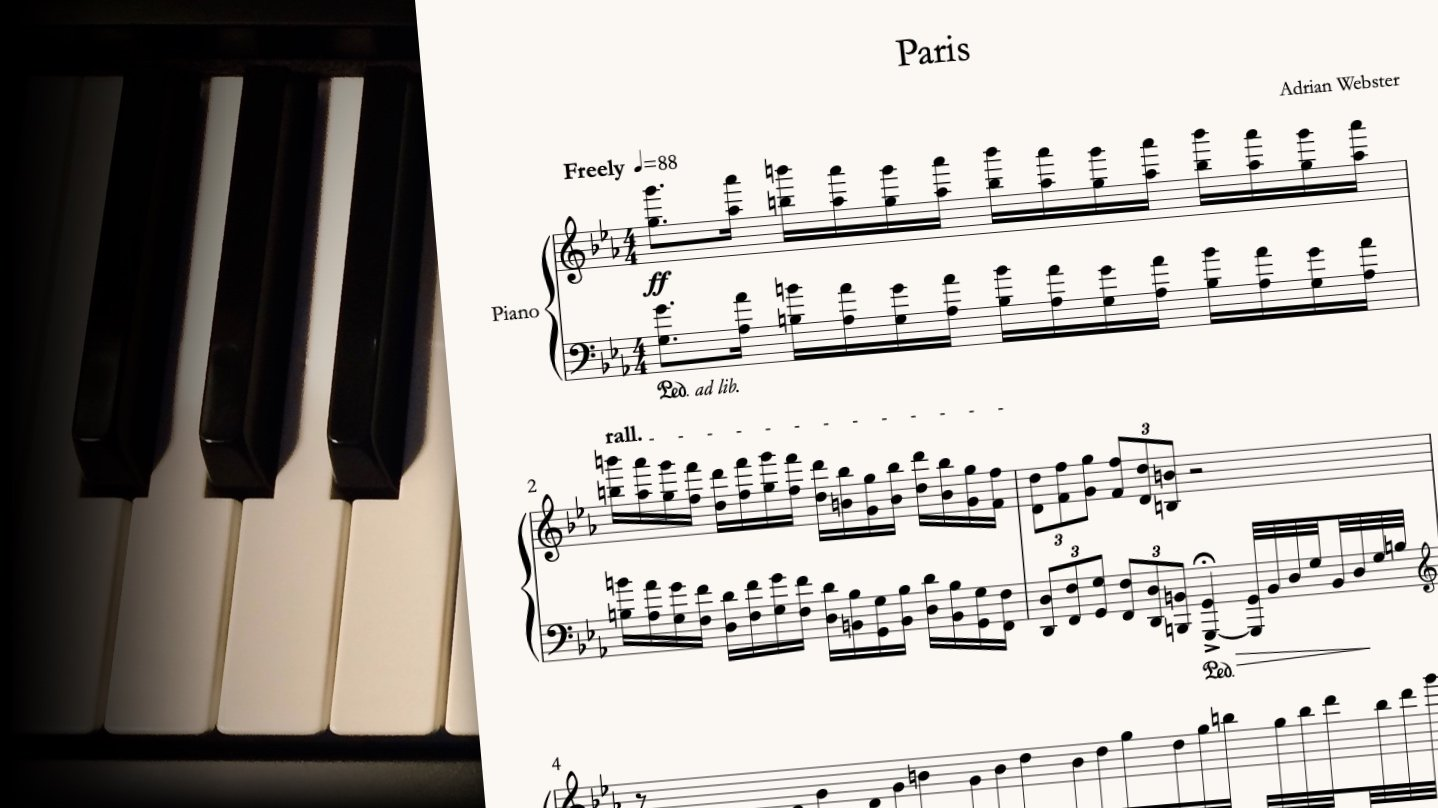 Paris by CrusaderBeach - sheet music close-up