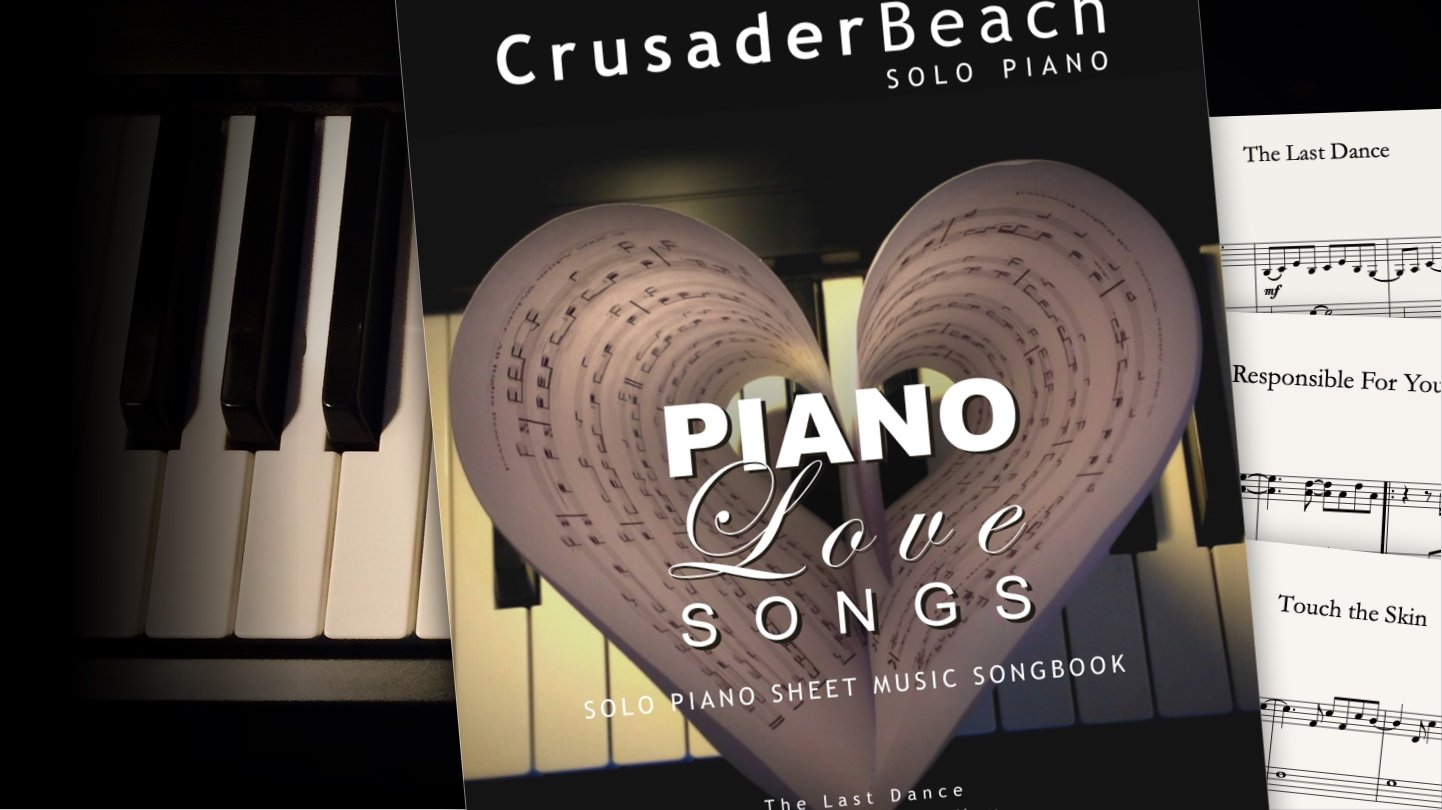Piano Love Songs by CrusaderBeach - sheet music bundle close-up