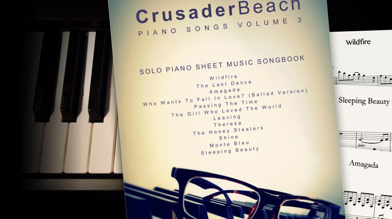 Piano Songs Vol 3 by CrusaderBeach - sheet music songbook close-up
