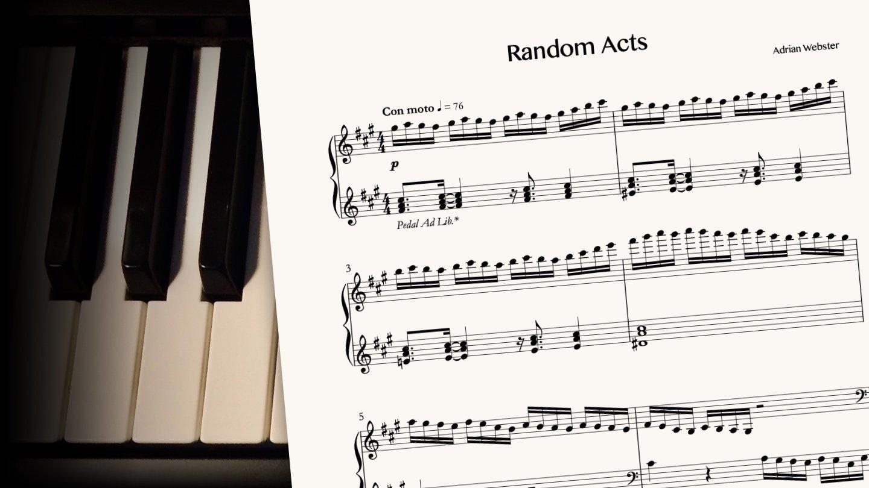 Random Acts by CrusaderBeach - sheet music close-up