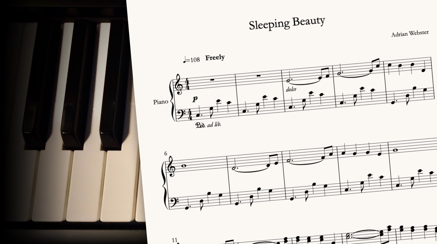 Sleeping Beauty by CrusaderBeach - sheet music close-up