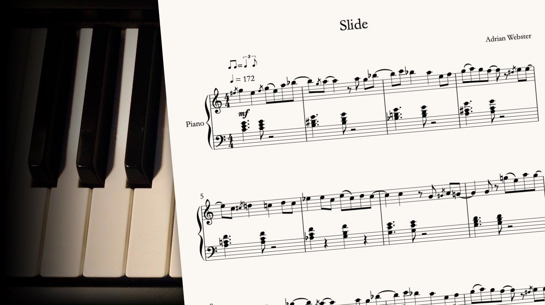 Slide by CrusaderBeach - sheet music close-up