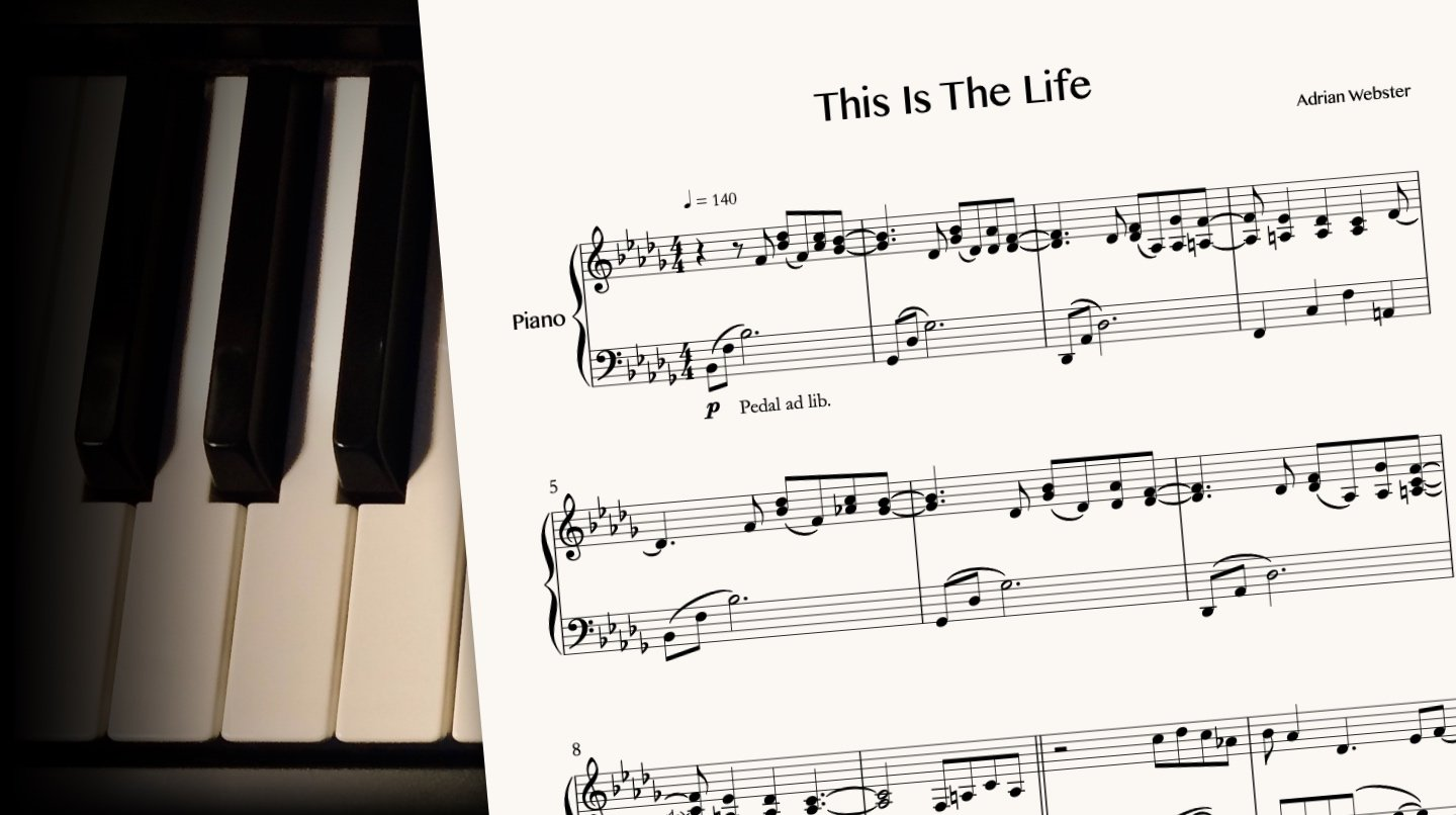 This Is The Life by CrusaderBeach - sheet music close-up