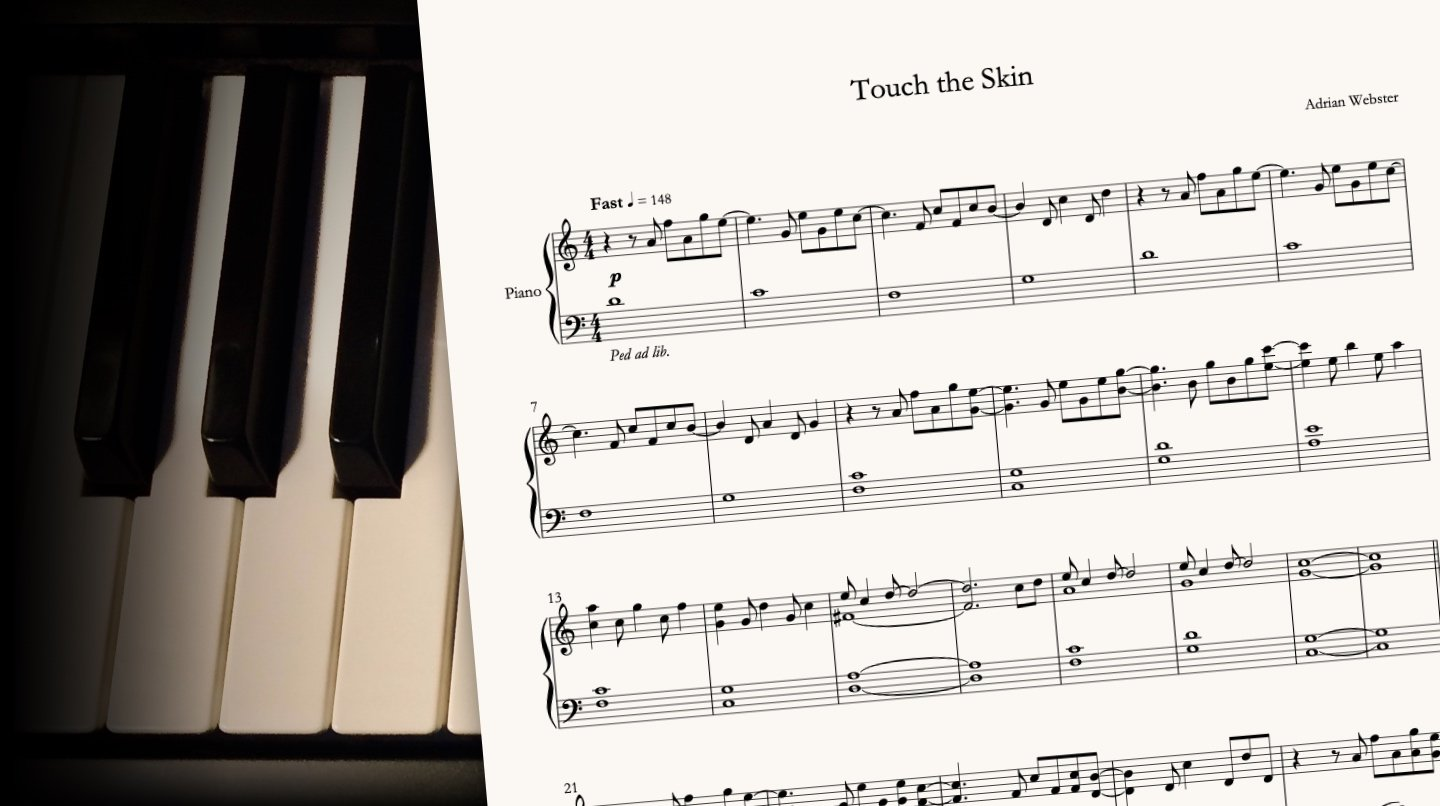 Touch The Skin by CrusaderBeach - sheet music close-up