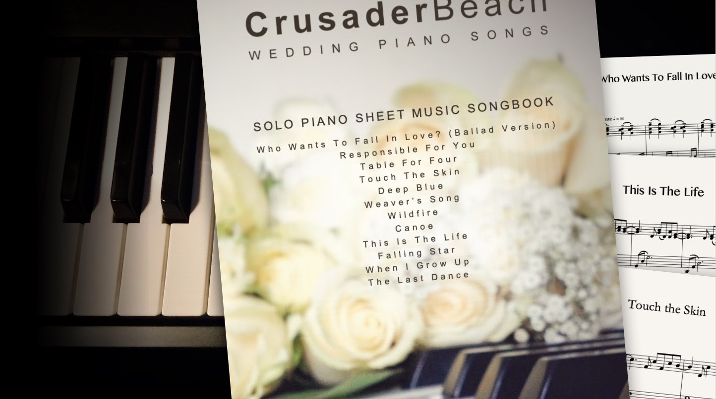 Wedding Piano Songs by CrusaderBeach - sheet music songbook close-up